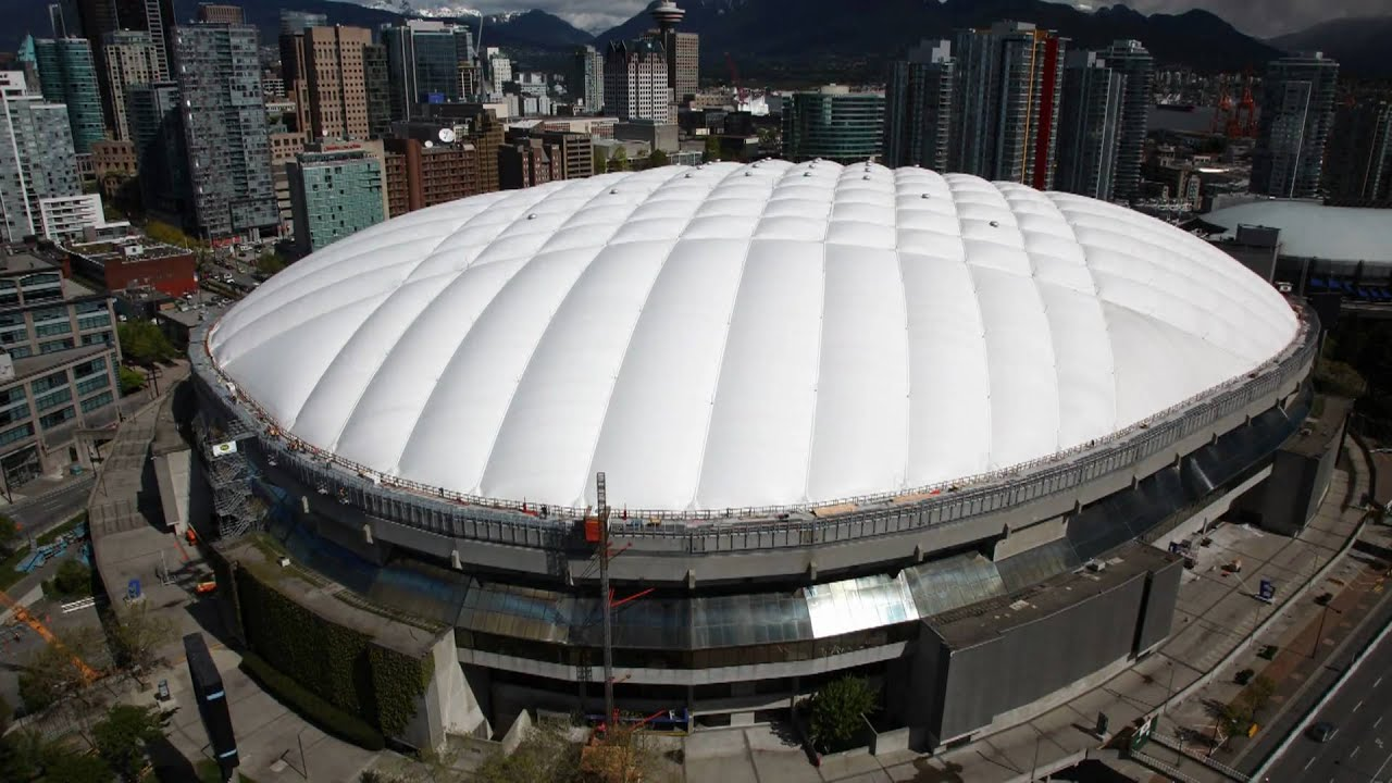 Bc Place Roof Deflation 2010 Youtube