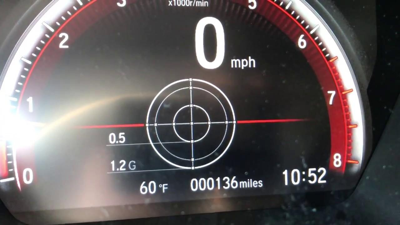 2017 Honda Civic Si G Force Meter Shift Lights Lap Timer Youtube