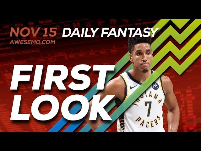 The DFS Early Bird - NBA First Look - Top Plays - 11/15/2019