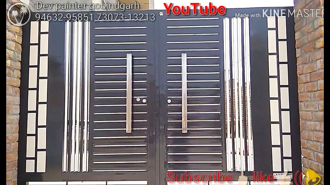 New Modern Steel Main Gate Design and Painting - YouTube