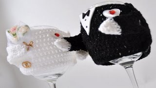 Вязаные свитера на чашки жених и невеста - прикольные свитера для кружек