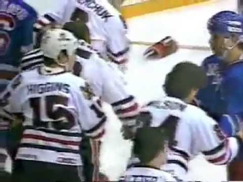 "Rangers Blackhawks Bench Clearing ""Brawl""  Dec 28, 1983"