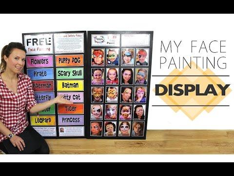 My Face Painting Display / Menu Board