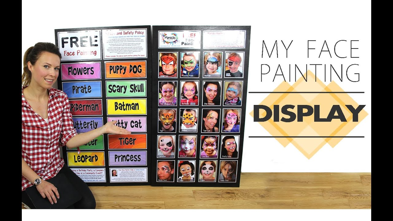 My face painting display menu board youtube magicingreecefo Gallery
