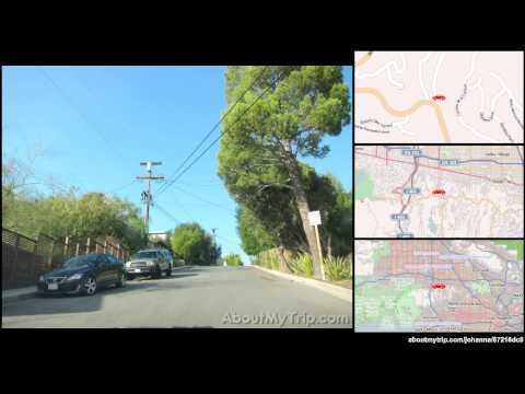 Benedict Canyon Drive (Beverly Glen, Los Angeles, CA) to Oakfield Drive (Studio City)