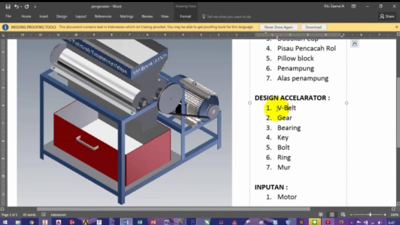 Cara Membuat Mesin Pencacah di Autodesk Inventor#1 Opening ...