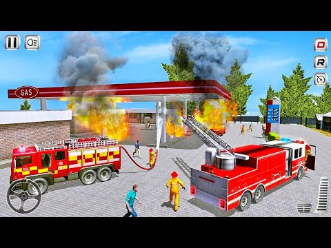 Real Fire Truck Driving Simulator 2020 - Fireman's Daily Job Game - Android Gameplay