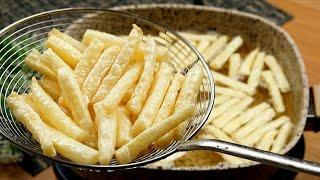 البطاطس المقلية المقرمشة🍟بس بملعقة واحدة نشا قرمشة خطيرة وعمرها ما تشرب زيت french fries