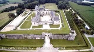 Château de Kerjean à Saint Vougay - vu du ciel - Drone - Finistère - Morbihan - Bretagne