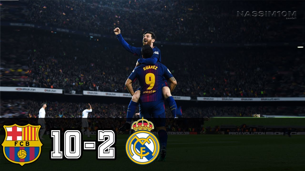 Barcelona Vs Real Madrid 10 2 All Goals And Highlights