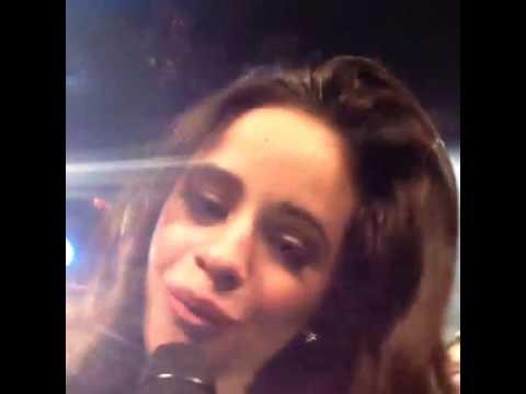 Camila Cabello singing (instagram video)