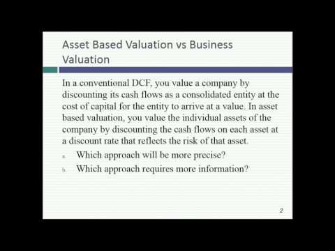 Session 21: Closing up pricing, asset based valuation & priv