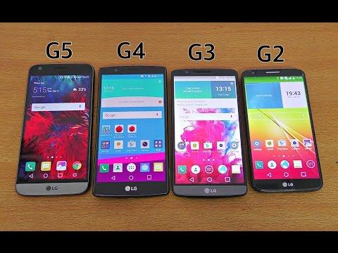 LG G5 vs G4 vs G3 vs G2