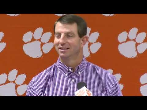 Dabo Swinney says it gets harder to say goode to seniors