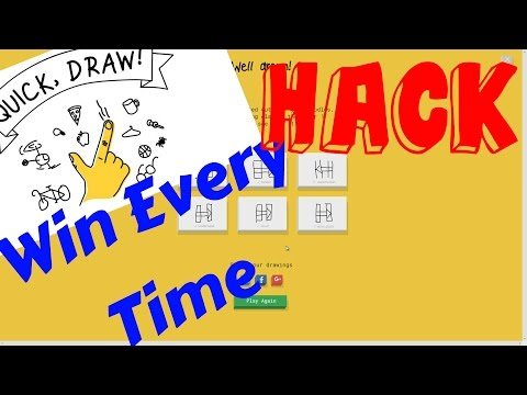 Google Quick Draw HACK Win Every Time