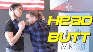 JEET KUNE DO / DIRTY BOXING: Head butt / clinch