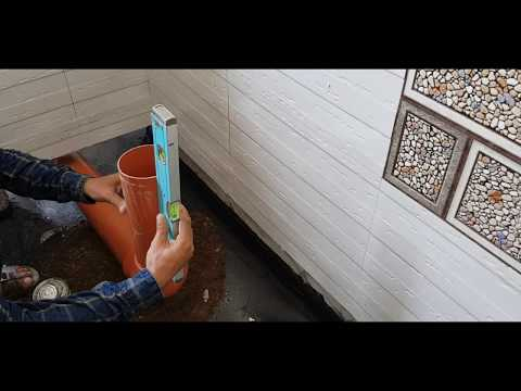 """4""""-pvc-pipe-installation-&-fitting-in-bathroom।bathroom-drainage-line-installation।bathroom-plumbing"""