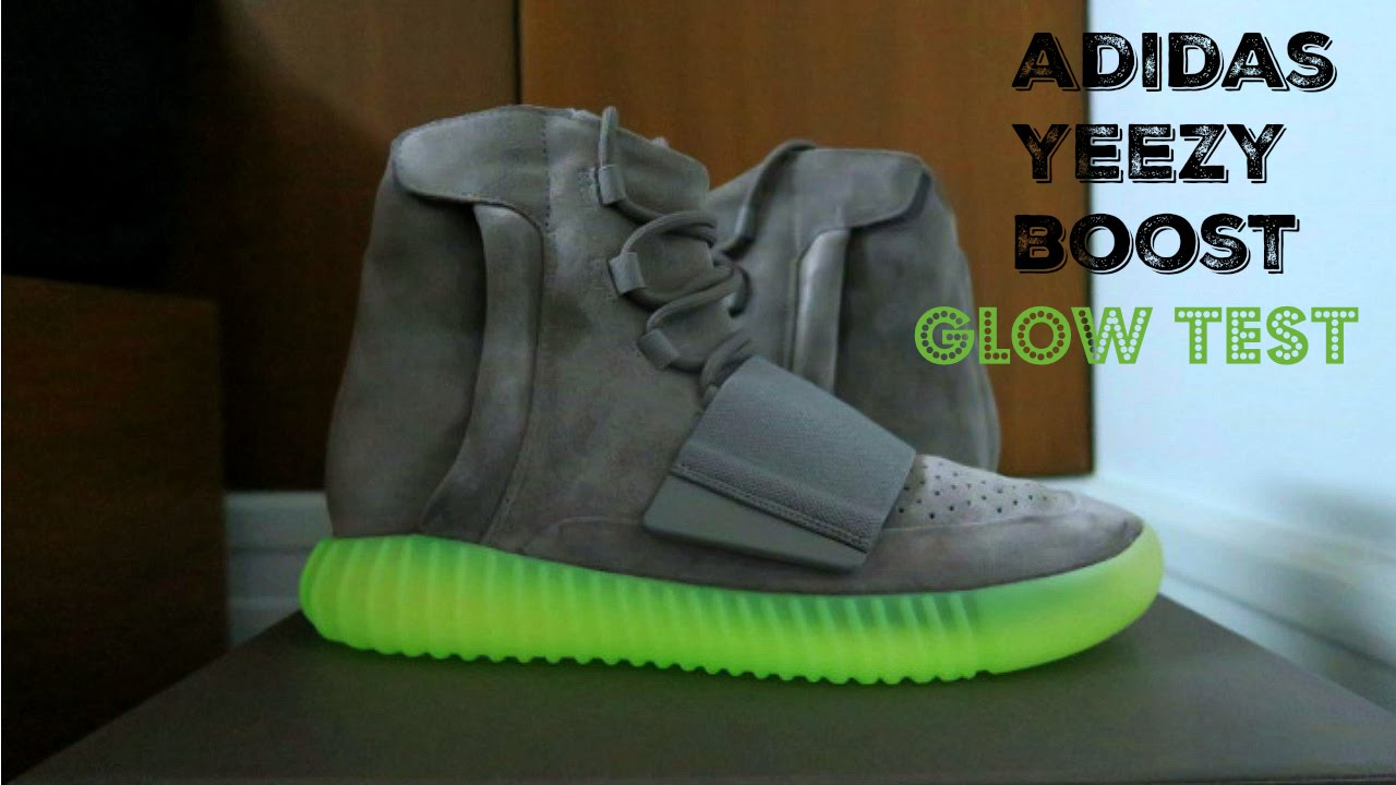 80028d690a686 Adidas Yeezy Boost 750 Detailed Glow Test - YouTube