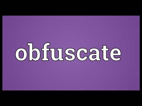 Obfuscate Meaning