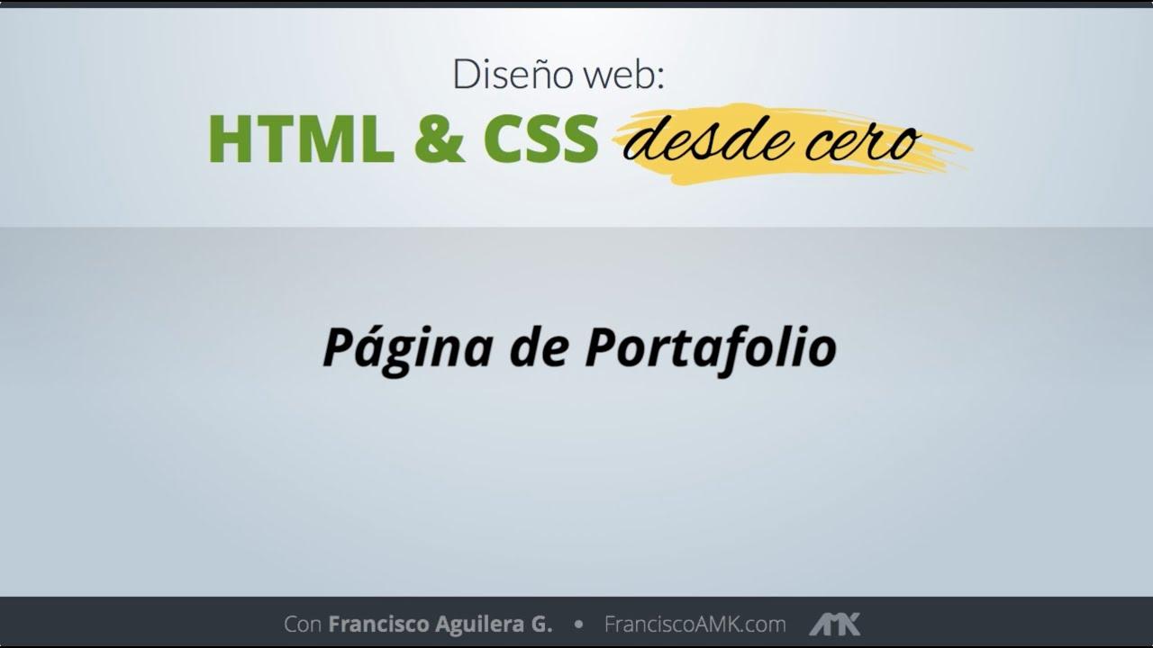 HTML y CSS Desde Cero – 49. Página de Portafolio