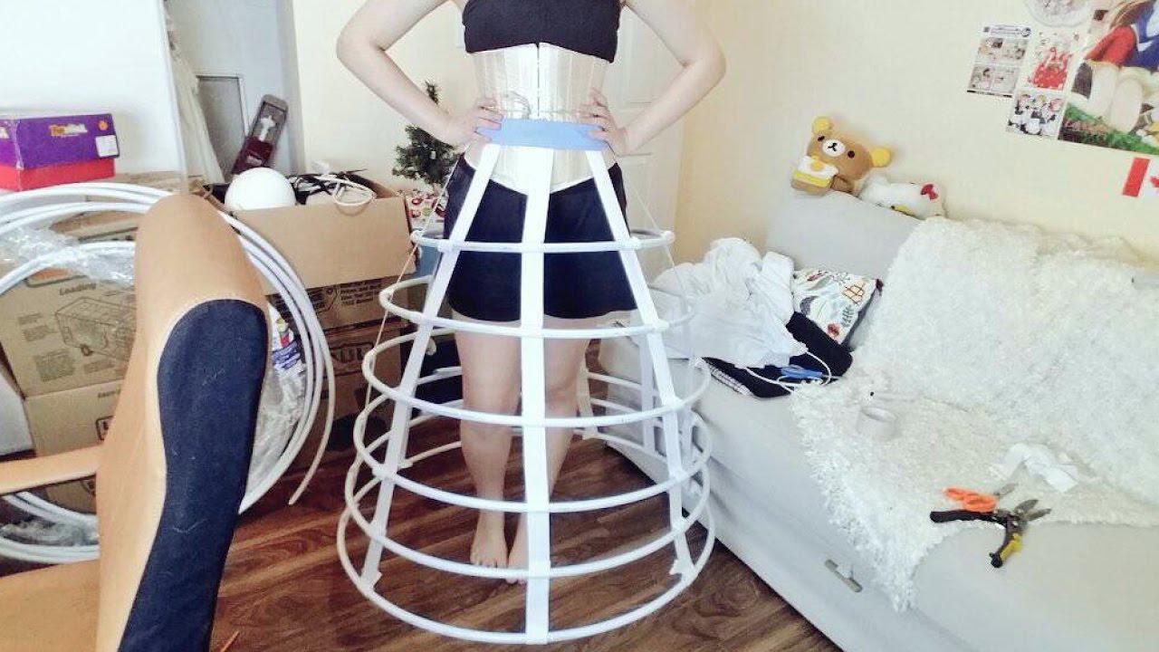 5f82aafb728 Easy to make Hoop Skirt! - YouTube
