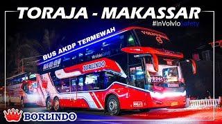 NAIK BIS VOLVO B11R PERTAMA DI SULAWESI | PO Borlindo (Toraja - Makassar)