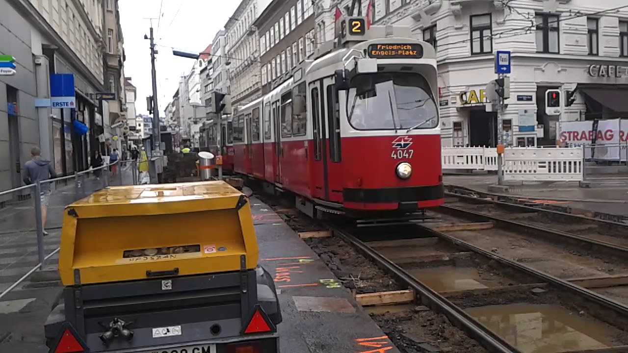 Straßenbahn Linie 2 Wien Youtube