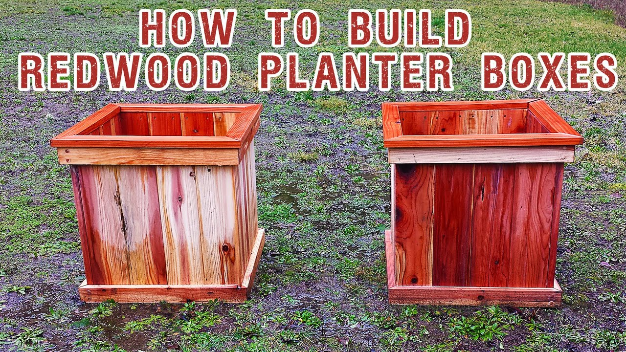 How to build a planter box for a deck - Building Redwood Planter Boxes