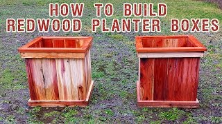 Building Redwood Planter Boxes