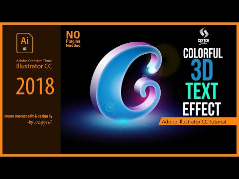 Colorful Gradient 3D Text Effects in Illustrator CC (No Plugins) Tutorial I Sketch Station