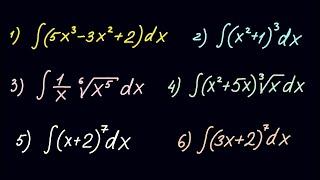 Первообразная функция и неопределенный интеграл #4