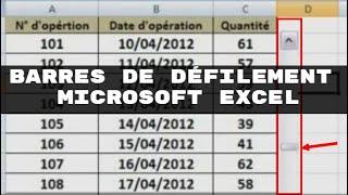 Insérer et utiliser les barres de défilement sous Excel