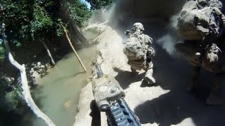 Minesweeper Helmet Cam Firefight With Taliban
