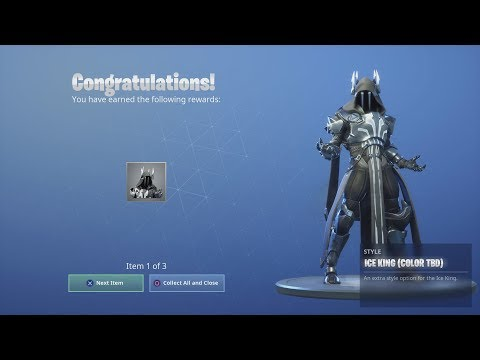 *NEW* ICE KING (Black & White) *UNLOCKED* After Winning A Random Squad Victory Royale! (Fortnite)