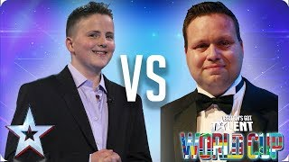 Video Andrew Johnston vs Paul Potts | Britain's Got Talent World Cup 2018 download MP3, 3GP, MP4, WEBM, AVI, FLV Juni 2018