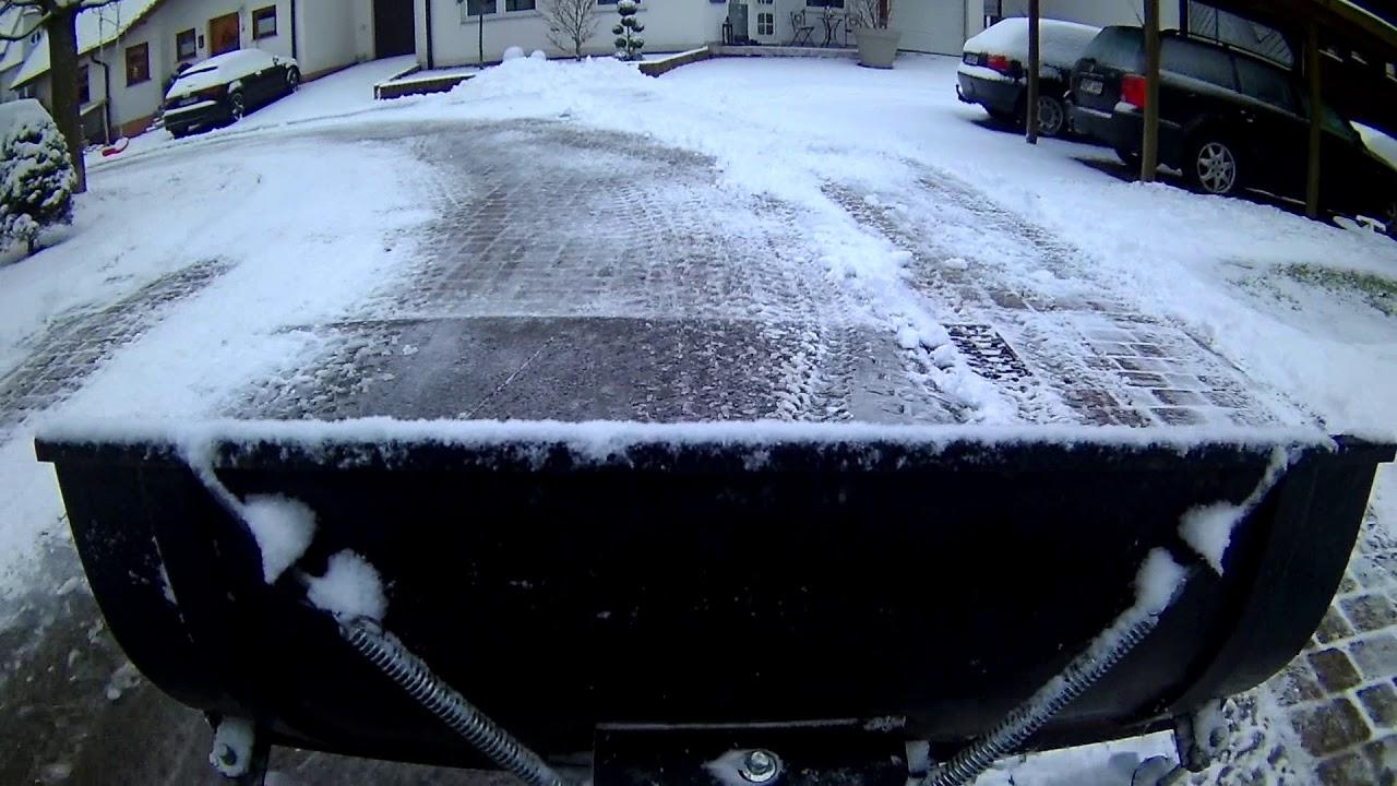 Ganz und zu Extrem Schneeschieben Schneeräumen mit ATV Quad Winterdienst - YouTube @ZJ_99