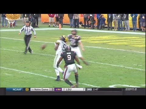 2018 Outback Bowl USC vs Michigan - AJ Turner Punt Fumble Recovery