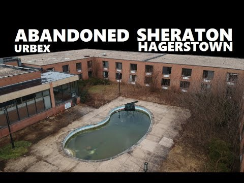 URBEX Abandoned Sheraton Hotel Hagerstown Convention Center MD DJI SPARK