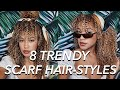 Natural Curly Hairstyles   Blogger Scarf Hairstyles