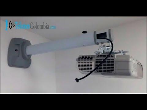 Soporte de pared para v deo proyector de tiro corto - Soporte pared proyector ...
