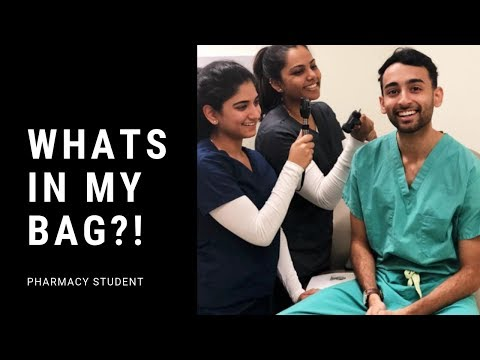 PHARMACY STUDENT: WHATS IN MY BAG ?!