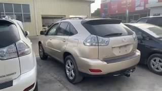 OPENING CONTAINER | 2004 Lexus RX330 Half Full Gold & 2005 RX330 Half full Option White