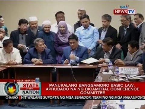 SONA: Panukalang Bangsamoro Basic Law, aprubado na ng bicameral conference committee