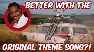 Is the Ghostbusters: Afterlife trailer better with the original theme song?! (COMPARISON!)