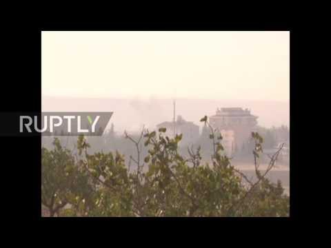 Syria: Turkish military launch strikes in Jarablus