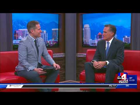 Mitt Romney with ABC 4 Utah