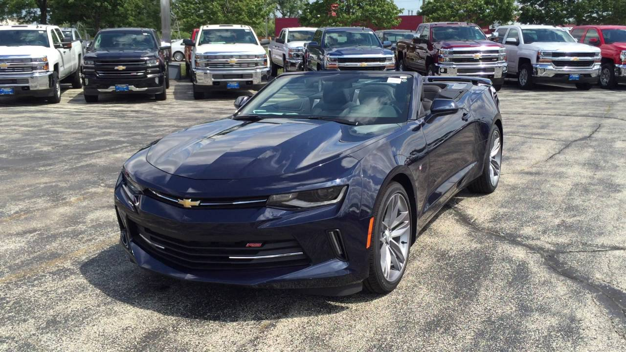 2016 Chevy Camaro RS Convertible for sale Wheeling : Bill Stasek Chevrolet - YouTube
