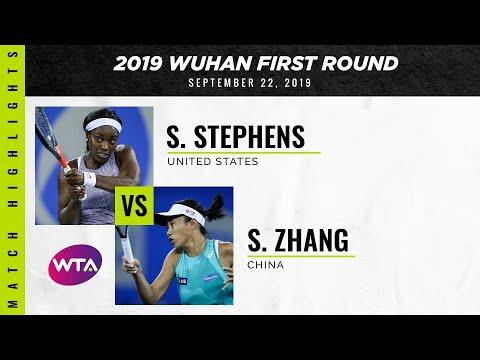 Sloane Stephens Vs. Zhang Shuai   2019 Wuhan First Round   WTA Highlights