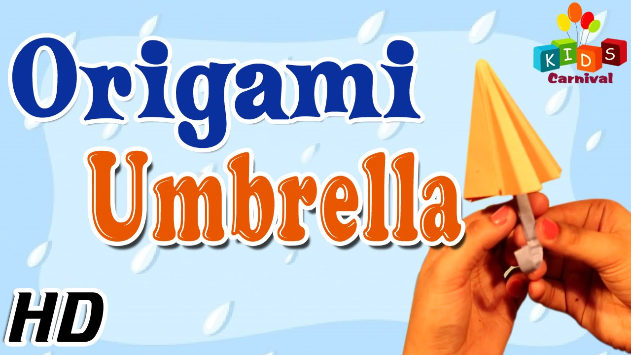 origami how to make umbrella simple tutorial in english youtube