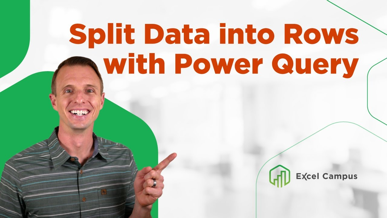 Split Data into Rows with Power Query